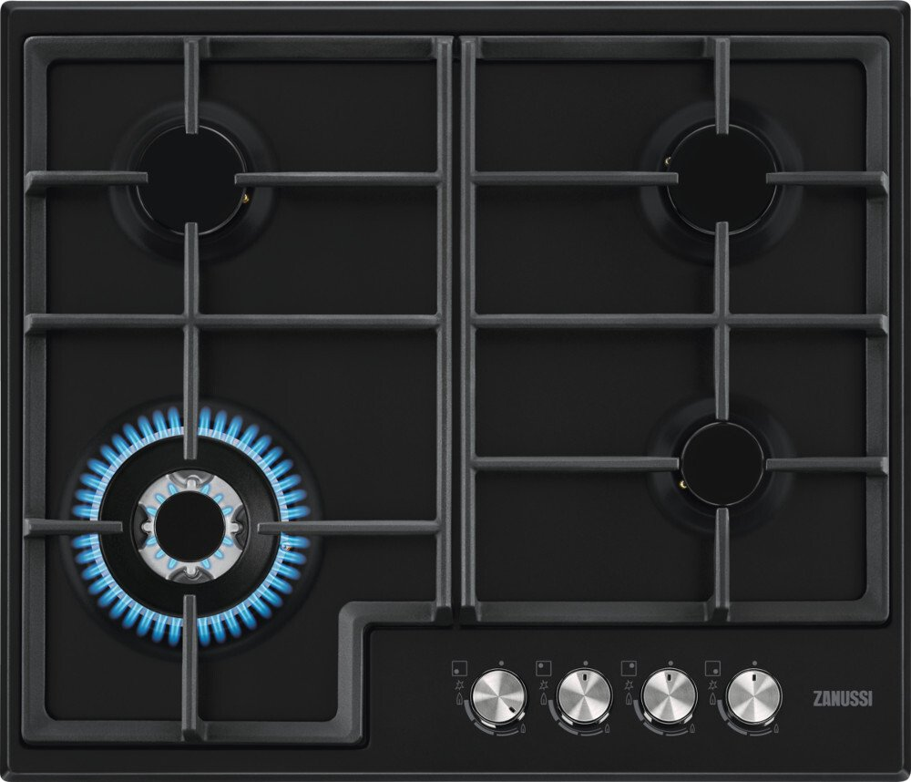 Zanussi ZGH66424BB 4 Burner Gas Hob