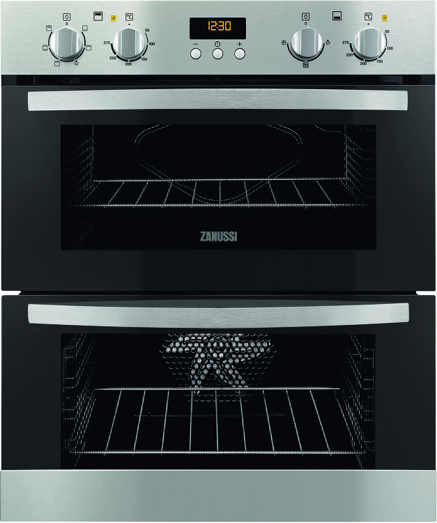buy zanussi zoe35511xk double built under electric oven stainless rh markselectrical co uk zanussi zop37902xk electric oven manual zanussi zcv667mxc electric cooker manual