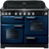 Rangemaster CDL110EIRB/C Classic Deluxe Blue with Chrome Trim 110cm Electric Induction Range Cooker