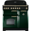 Rangemaster CDL90EIRG/B Classic Deluxe Racing Green with Brass Trim 90cm Electric Range Cooker