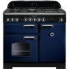 Rangemaster CDL100DFFRB/C Classic Deluxe Regal Blue with Chrome Trim 100cm Dual Fuel Range Cooker