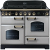 Rangemaster CDL110EIRP/B Classic Deluxe Royal Pearl with Brass Trim 110cm Electric Induction Range Cooker