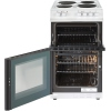 Belling FS50EFDO White Solid Plate Electric Cooker with Double Oven