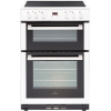 New World 60EDOMC White Ceramic Electric Cooker with Double Oven