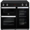 Belling Cookcentre 90Ei Black 90cm Electric Induction Range Cooker