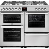 Belling Cookcentre 100DFT Professional Stainless Steel 100cm Dual Fuel Range Cooker
