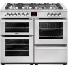 Belling Cookcentre 110DFT Professional Stainless Steel 110cm Dual Fuel Range Cooker