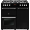 Belling Farmhouse 90DFT Black 90cm Dual Fuel Range Cooker