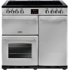 Belling Farmhouse 90E Silver 90cm Electric Ceramic Range Cooker