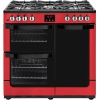 New World Vision 900DF Red 90cm Dual Fuel Range Cooker