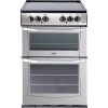 Belling Enfield E552 Silver Ceramic Electric Cooker with Double Oven
