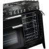 Rangemaster PROP90NGFGB/C Professional Plus Gloss Black with Chrome Trim 90cm Gas Range Cooker