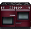 Rangemaster PROP110NGFCY/C Professional Plus Cranberry with Chrome Trim 110cm Gas Range Cooker