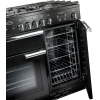 Rangemaster PROP100DFFGB/C Professional Plus Black with Chrome Trim 100cm Dual Fuel Range Cooker