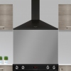 Rangemaster LEIHDC100BC Black with Chrome Trim 100cm Chimney Hood