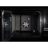 Rangemaster KCH100DFFBL/C Kitchener Black with Chrome Trim 100cm Dual Fuel Range Cooker