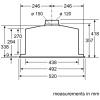 Bosch Serie 6 DHL575CGB Canopy Hood