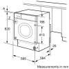Bosch Serie 4 WKD28351GB Integrated Washer Dryer