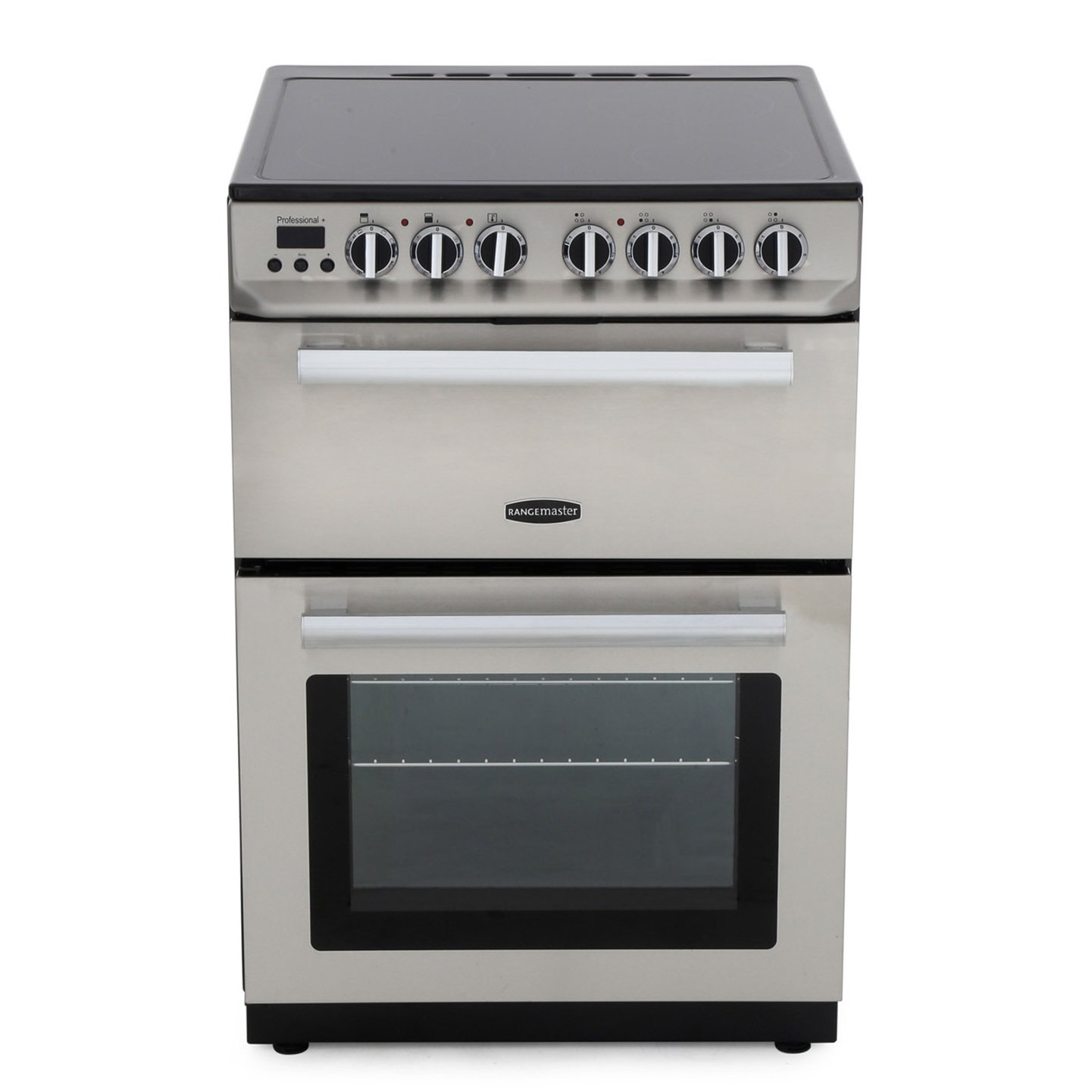 Rangemaster PROP60ECSS/C Professional Plus 60 Stainless Steel with Chrome Trim Electric Cooker with Double Oven