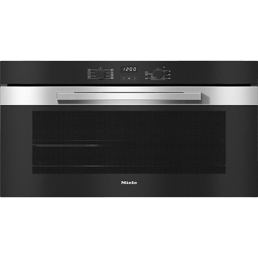 Miele PureLine H2890B CleanSteel Single Built In Electric Oven