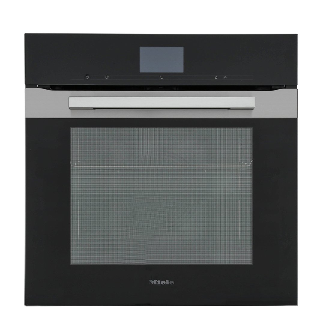 Miele PureLine H7660BP CleanSteel Single Built In Electric Oven
