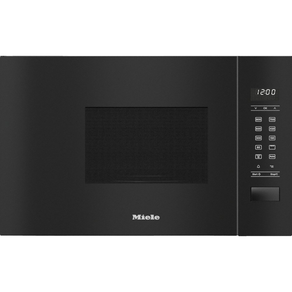 Miele ContourLine M2234SC Obsidian Black Built In Microwave with Grill