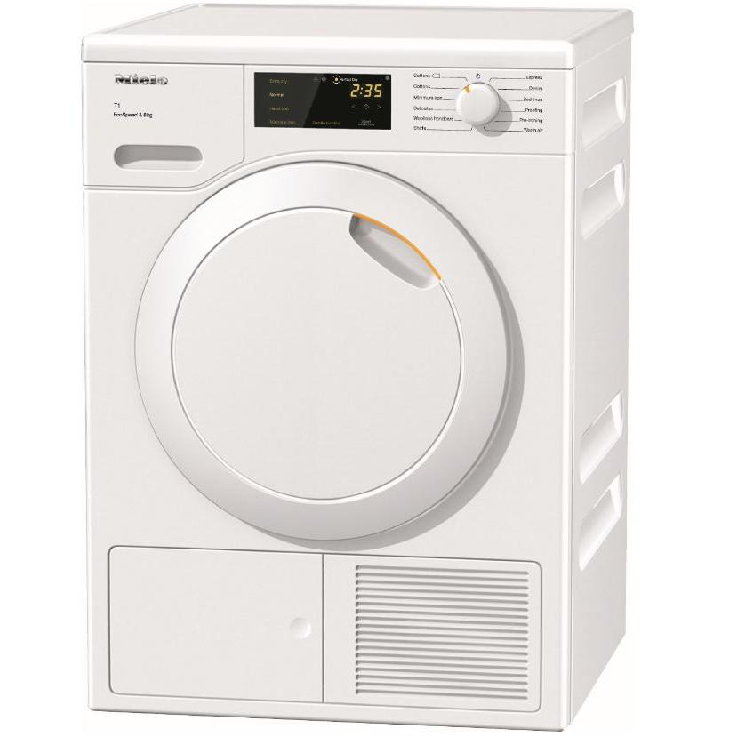 Miele TCB140 WP Lotus White Condenser Dryer with Heat Pump Technology