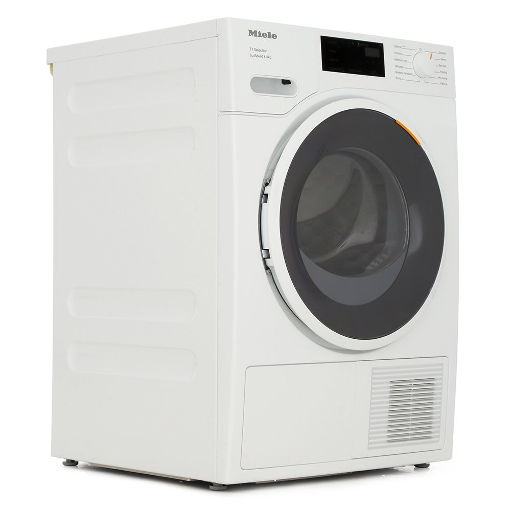 Miele TSF643 WP Lotus White Condenser Dryer with Heat Pump Technology