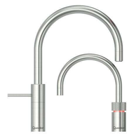 Quooker Combi 2.2  Nordic Round Stainless Steel Boiling Water Twin Tap