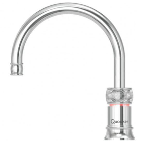 Quooker PRO3 Classic Nordic Round Chrome (excludes Mixer Tap) Boiling Water Only Tap