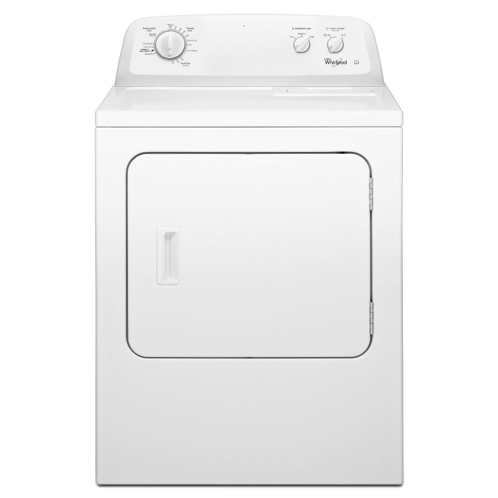 Whirlpool 3LWED4705FW American Style Front Loading Dryer