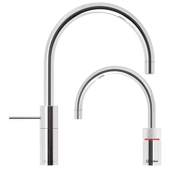 Quooker PRO3 Nordic Round Chrome Boiling Water Twin Tap