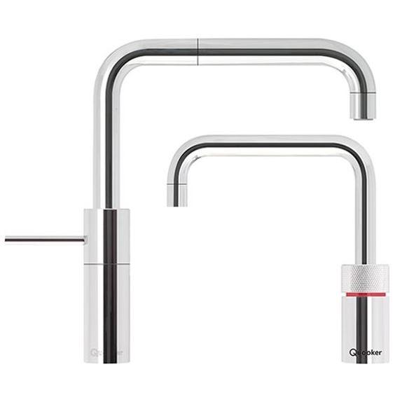Quooker PRO3 Nordic Square Chrome Boiling Water Twin Tap