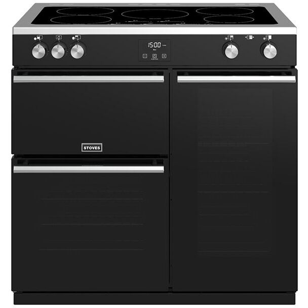 Stoves Precision Deluxe S900Ei Black 90cm Electric Induction Range Cooker