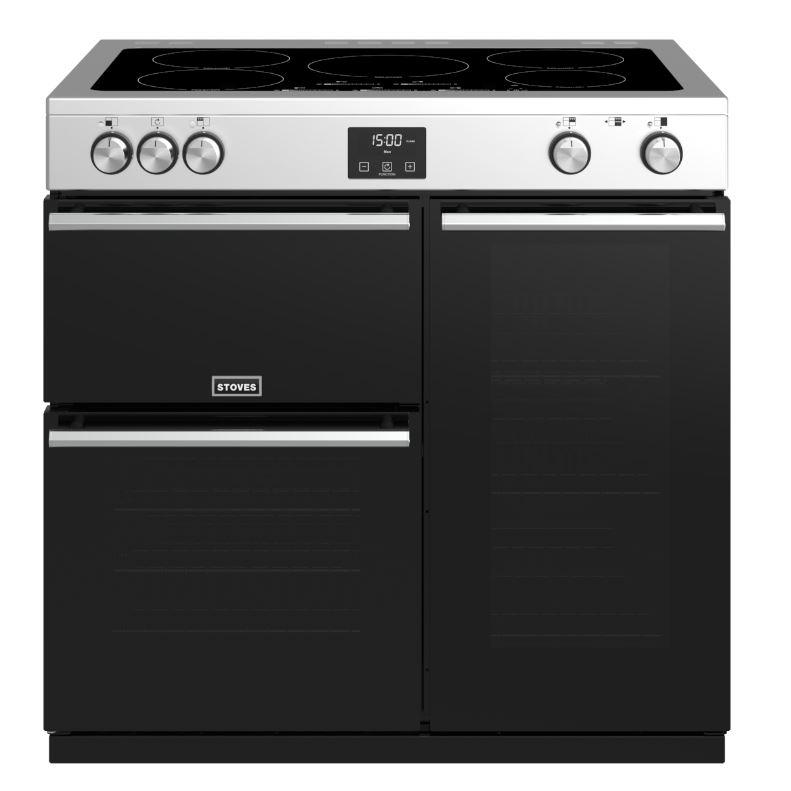 Stoves Precision Deluxe S900Ei Stainless Steel 90cm Electric Induction Range Cooker