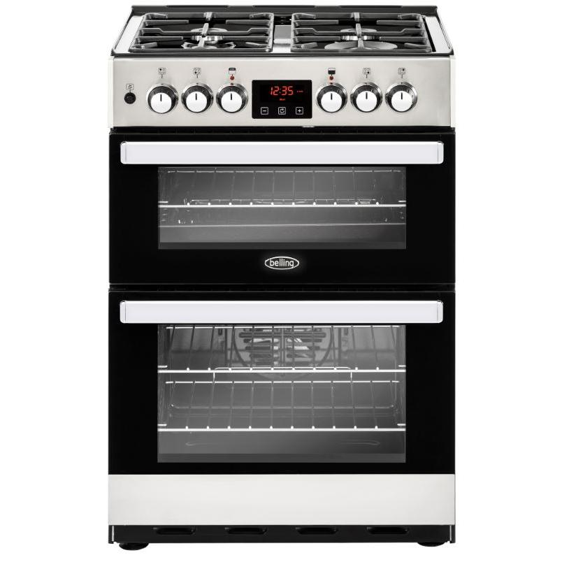Belling Cookcentre 60DF Stainless Steel Dual Fuel Cooker with Double Oven