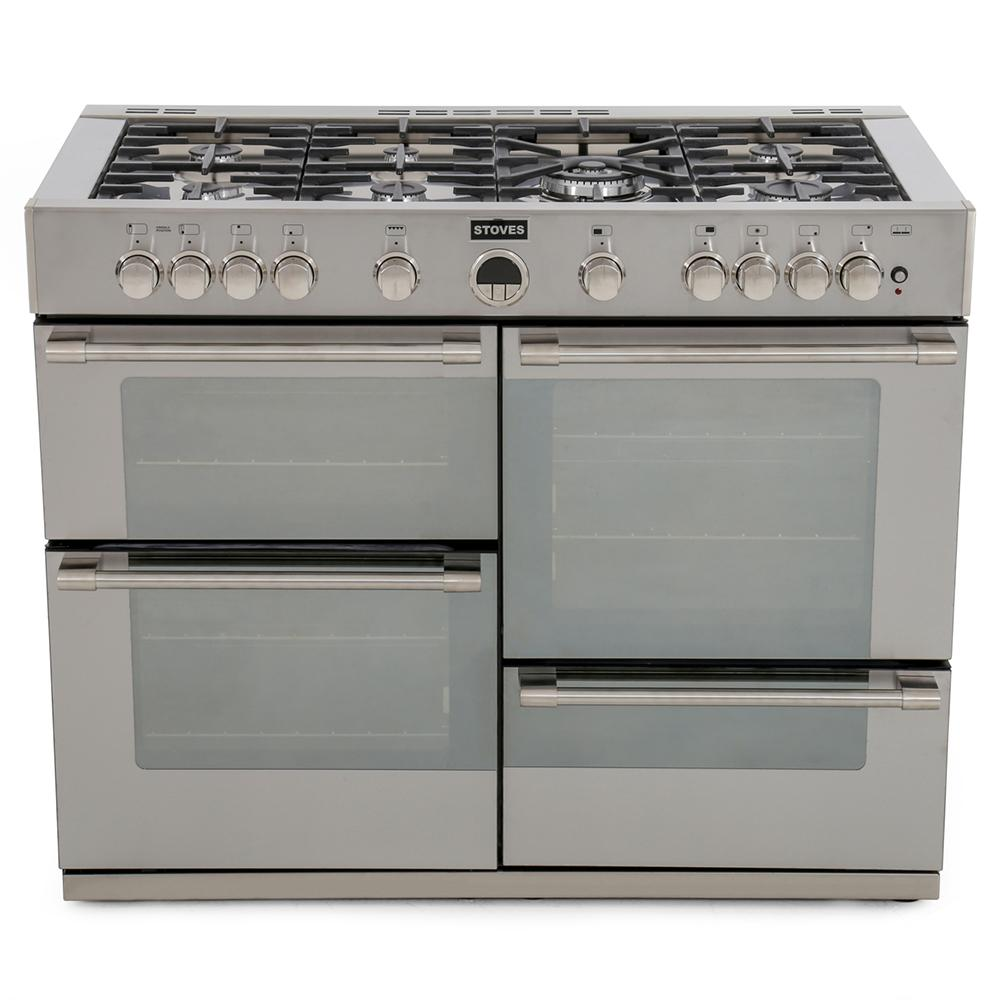 buy stoves sterling r1100gt stainless steel 110cm gas. Black Bedroom Furniture Sets. Home Design Ideas