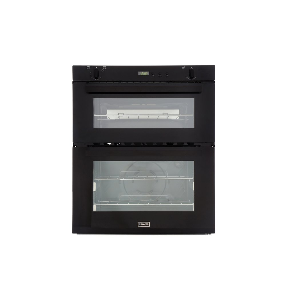 Stoves SGB700PS Black Double Built Under Gas Oven