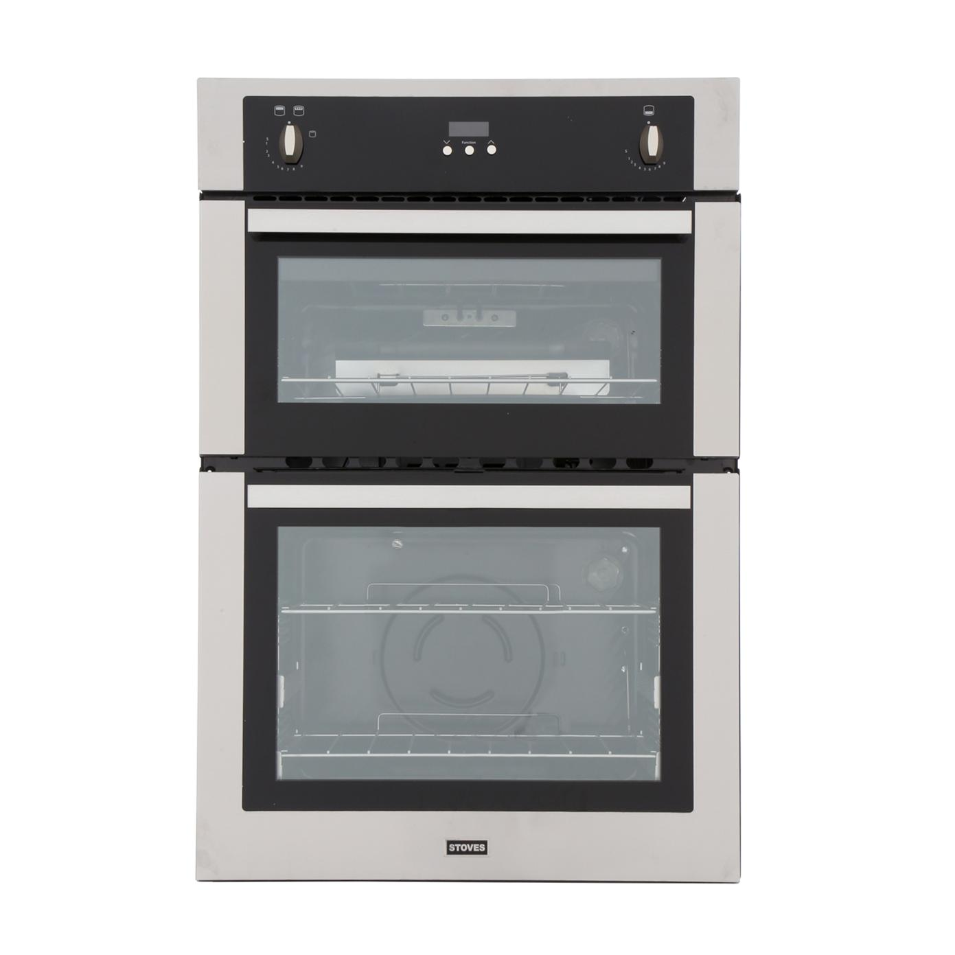 Built In Gas Ovens Part - 22: Stoves SGB900PS Stainless Steel Double Built In Gas Oven