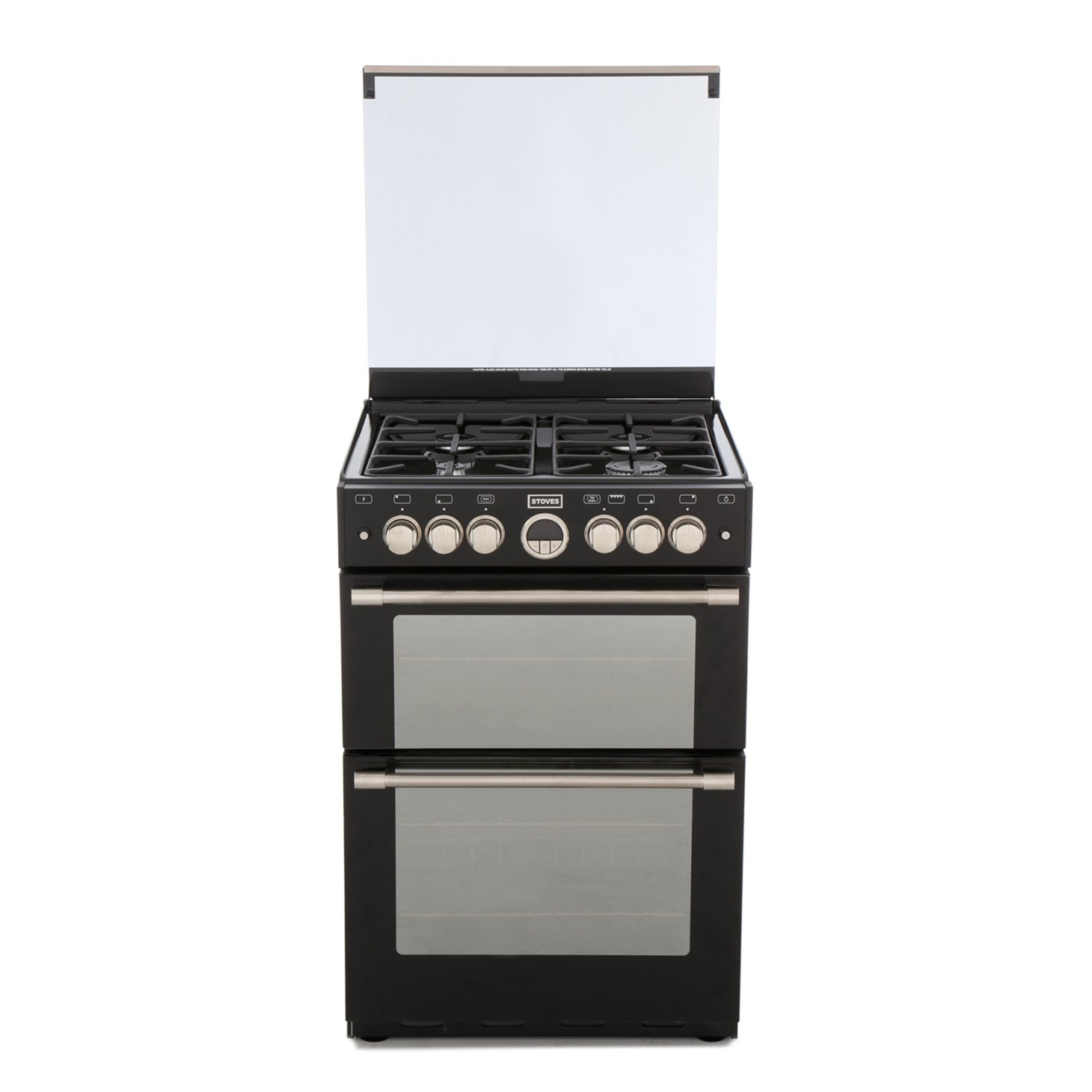 Stoves Sterling 600G Black Gas Cooker with Double Oven