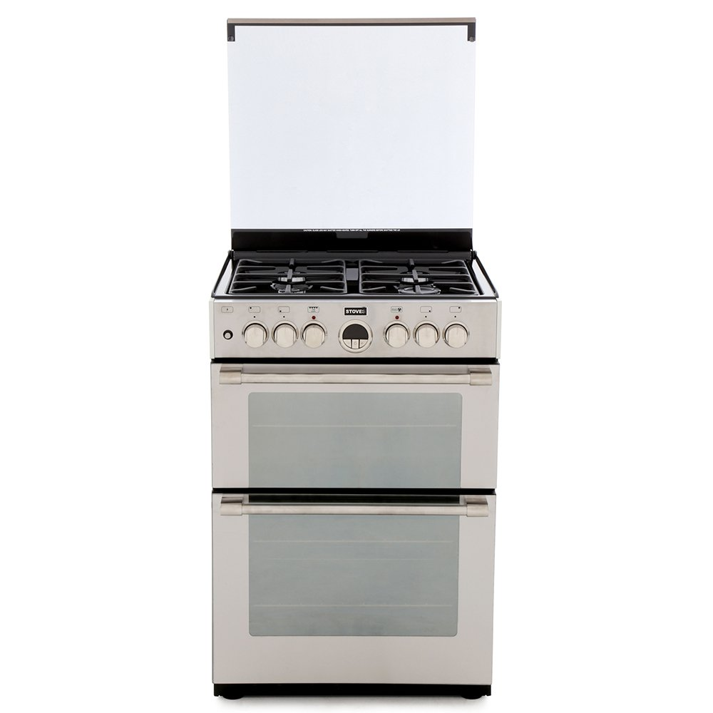 Stoves Sterling 600DF Stainless Steel Dual Fuel Cooker with Double Oven