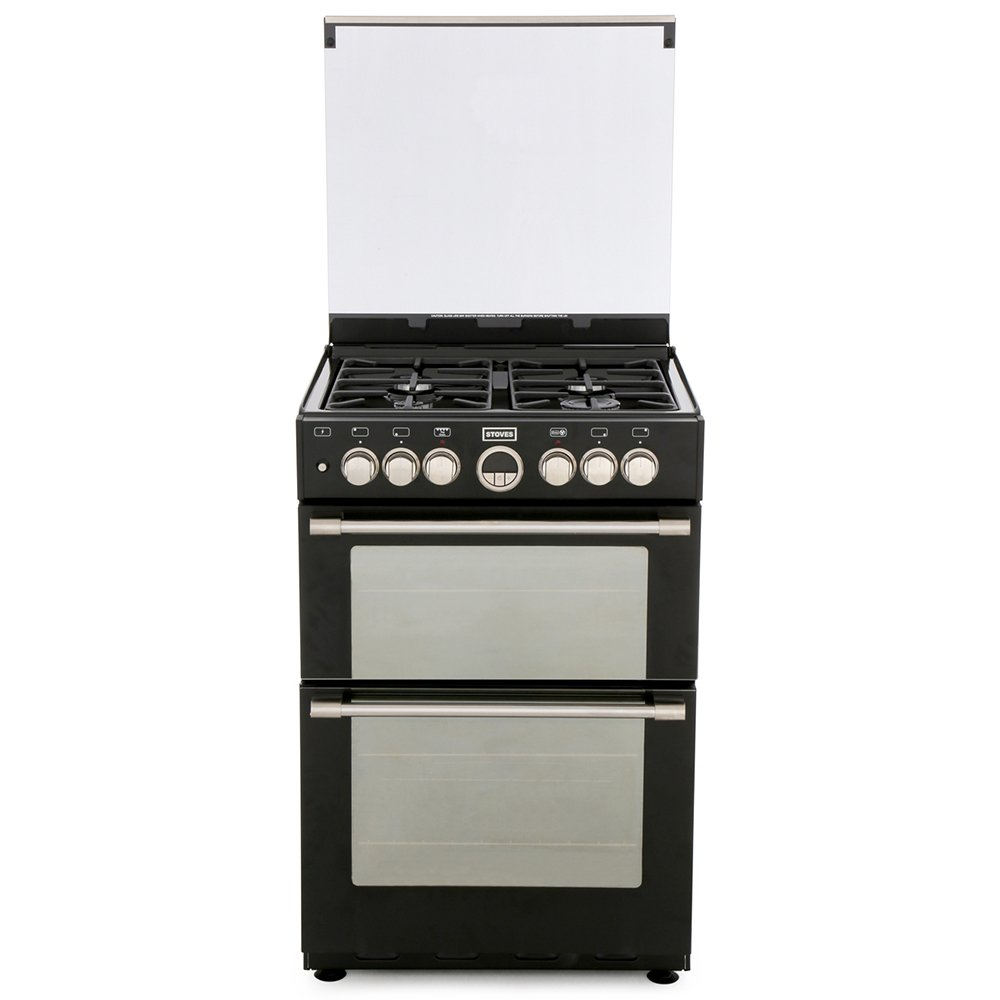 Stoves Sterling 600DF Black Dual Fuel Cooker with Double Oven
