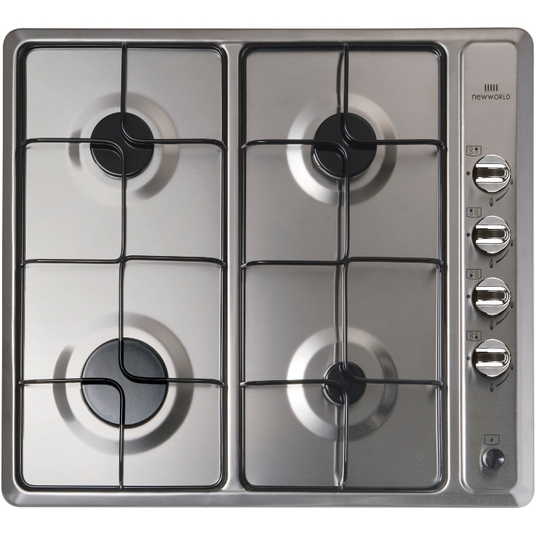 buy new world nwghu601 stainless steel 4 burner gas hob 444441489 rh markselectrical co uk new world freestanding gas cooker manual new world vision gas cooker manual