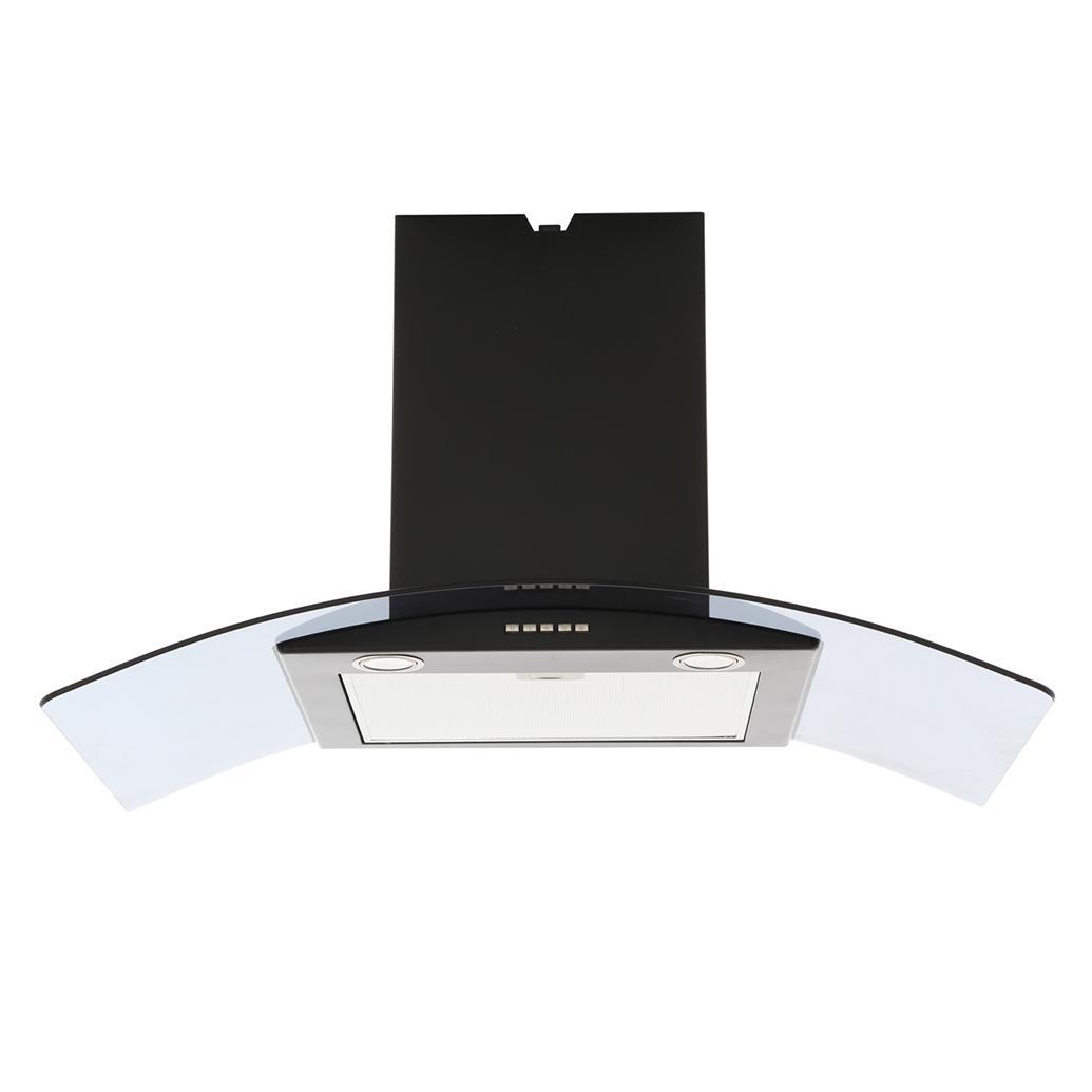Buy Belling 900 CGH Black 90cm Chimney Hood (444443286) | Marks ...