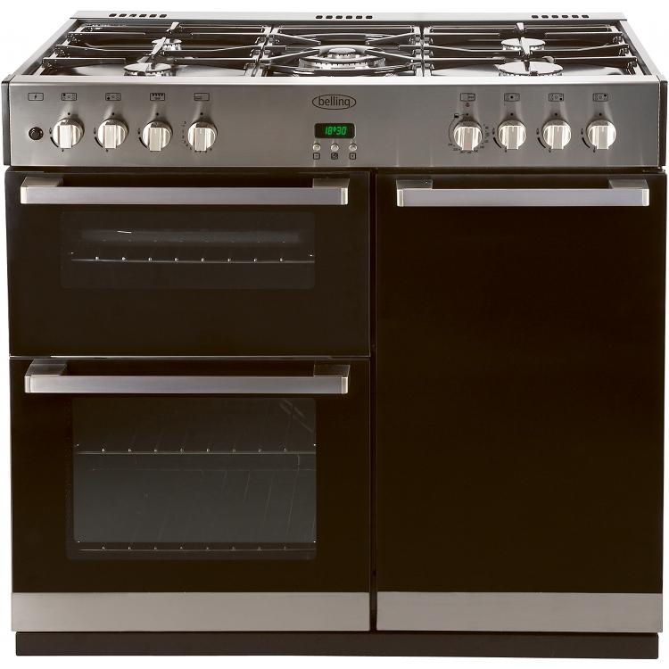 buy belling db4 90gt stainless steel 90cm gas range cooker rh markselectrical co uk