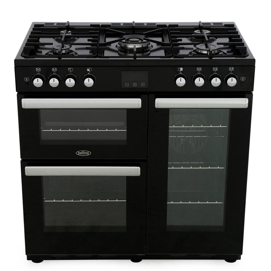 Belling Cookcentre 90G Black 90cm Gas Range Cooker