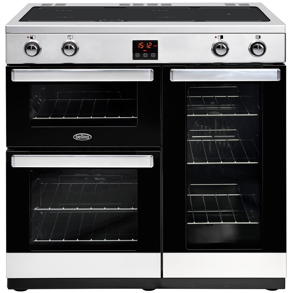 Belling Cookcentre 90Ei Stainless Steel 90cm Electric Induction Range Cooker