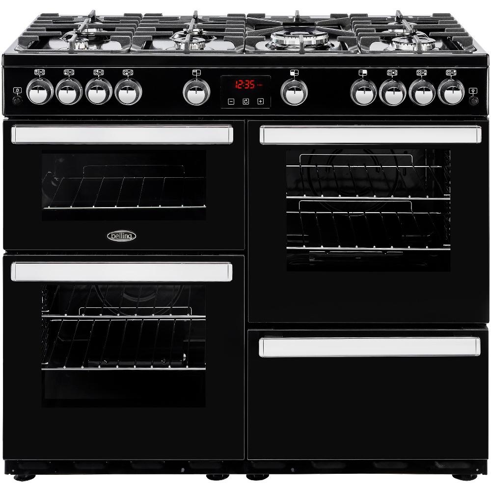 Belling Cookcentre 100G Black 100cm Gas Range Cooker