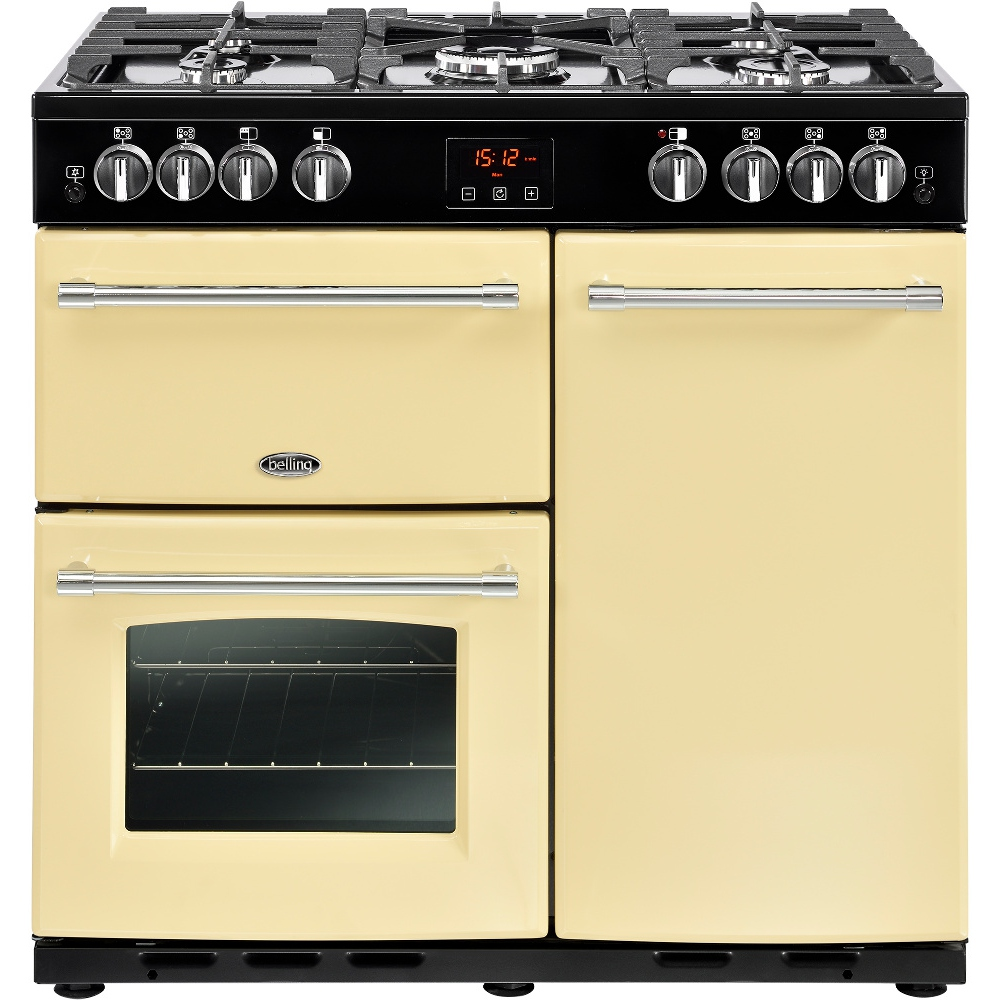 buy belling farmhouse 90g cream 90cm gas range cooker 444444129 rh markselectrical co uk Gas Cooker Belling Cooker Spares