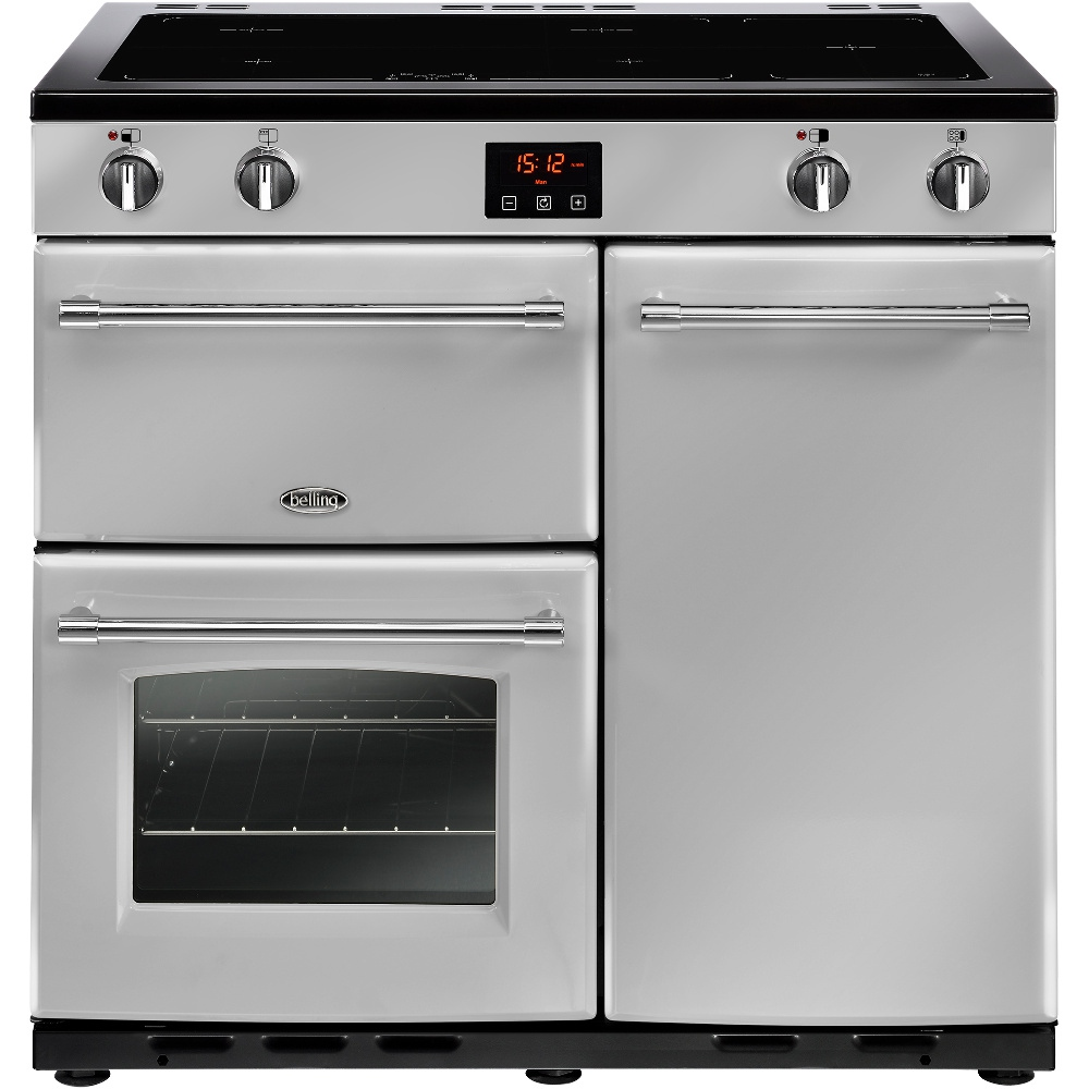 Buy Belling Farmhouse 90ei Silver 90cm Electric Induction Range Wiring Oven And Hob Cooker